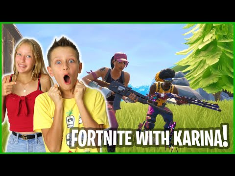 PLAYING FORTNITE WITH KARINA IN SEASON X!