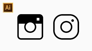 How to Draw Instagram Style Camera Icon Using Grid - Adobe Illustrator