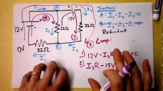 Kirchhoff's Rules (Laws) Worked Example   Doc Physics