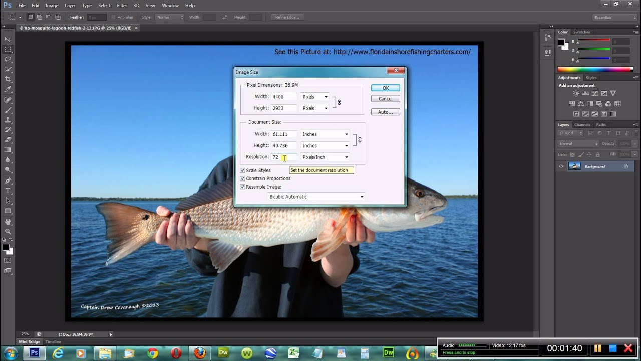 Adobe Photoshop CS6 Video 5: How to Change Image Size - YouTube