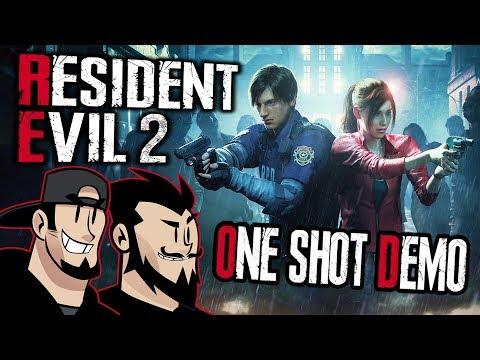 Resident Evil 2 One Shot Demo Lets Play: Raccoon Return - TenMoreMinutes