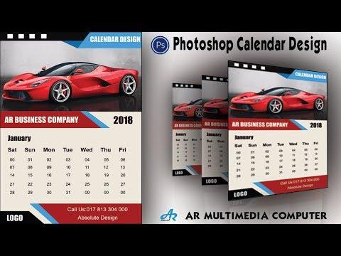How to Create a Calendar in Photoshop cc 2018|Calendar Design 2018|Photoshop cc Calendar Design