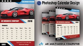 Comment Créer un Calendrier dans Photoshop cc 2018|Calendrier de Conception 2018|Photoshop cc Calendrier de Conception