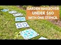 A Stepping Stone Makeover With 1 Stencil That Will Transform Your Garden