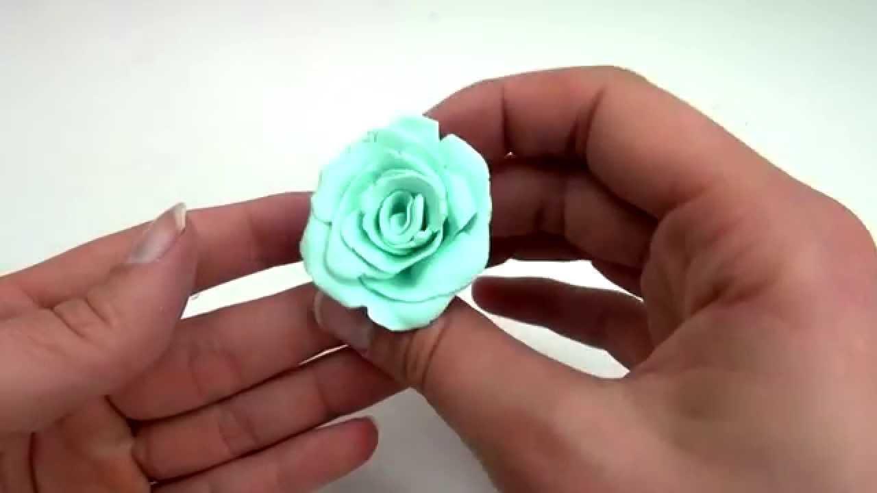 diy rose aus fimo tutorial polymer clay rose schnell selber machen deutsch youtube. Black Bedroom Furniture Sets. Home Design Ideas