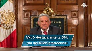 Ante la asamblea general de la ONU, el presidente López Obrador envió un mensaje en el que habló ante los jefes de Estado sobre el combate a la corrupción, la manera en que México ha enfrentado la crisis sanitaria de coronavirus y económica, y hasta la rifa del avión presidencial TP01