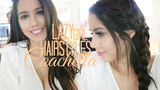 QUICK & EASY HAIRSTYLES FOR COACHELLA & SPRING | LAZY GIRL HAIRSTYLES | BECKYMORFIN