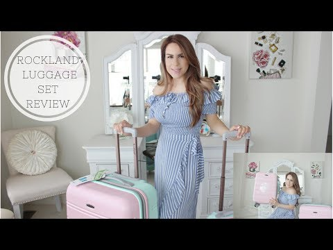 ROCKLAND LUGGAGE SET REVIEW//PINK AND MINT