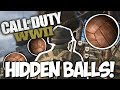 CALL OF DUTY WWII: Find the HIDDEN BALLS in Headquarters EASILY!!