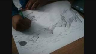 Speed Drawing a Desert
