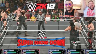 I Got WWE 2k19 Early! Unlocking The Secrets of Gameplay - WWE Super Showdown 6 Man Tag
