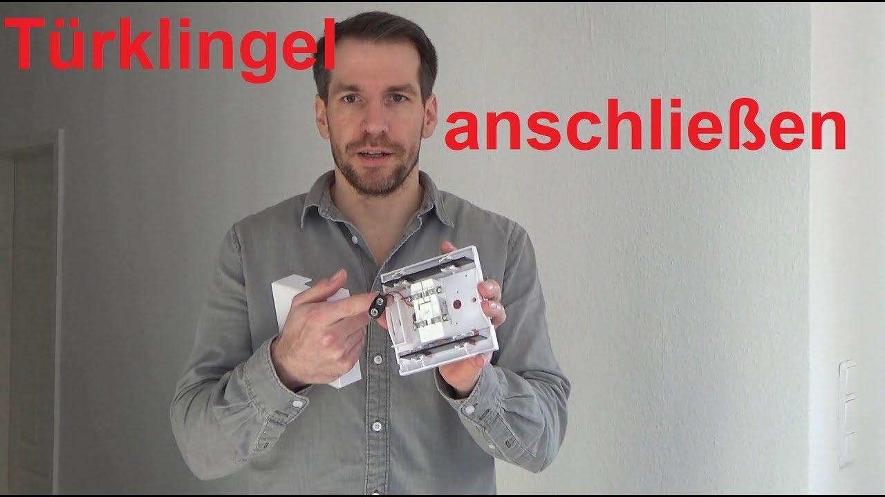 türklingel anschließen klingel verdrahten - youtube