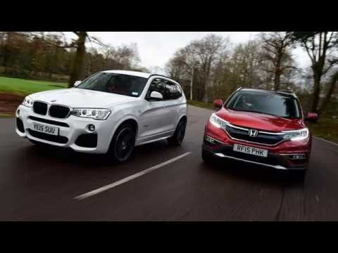 bmw x3 vs new honda cr v youtube