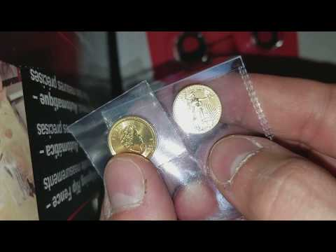 2018 1/10 Oz Gold American Eagle, Gold Canadian Maple Leaf, Franklin 50 Cent Pieces UNBOXING