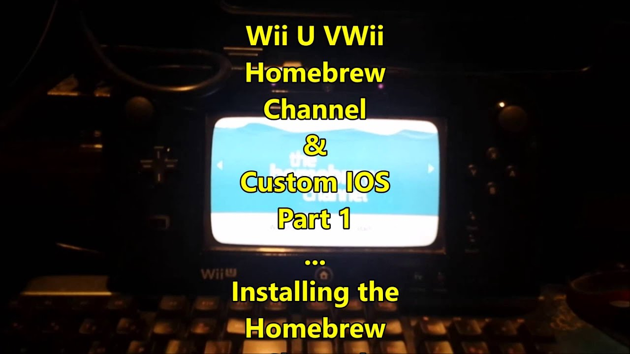 Wii U V Wii Home Brew Channel NAND Back up And Cios Install guide