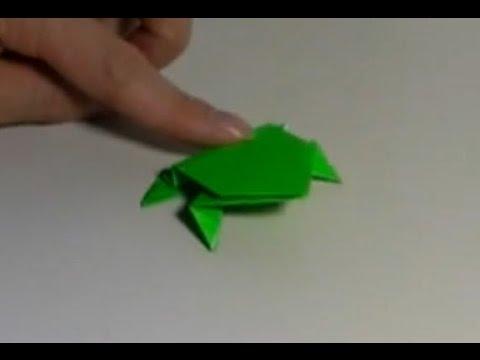 クリスマス 折り紙:折り紙カエルの作り方-youtube.com