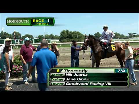 video thumbnail for MONMOUTH PARK 7-26-19 RACE 1