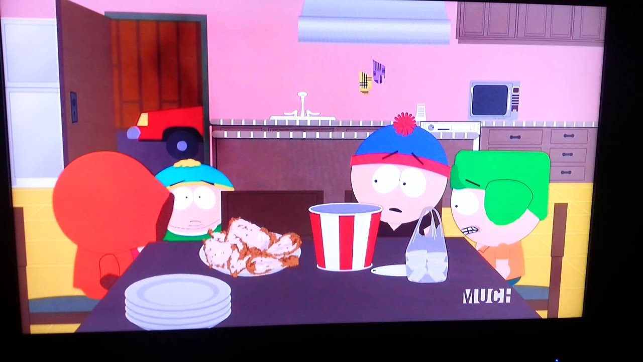 maxresdefault south park eric cartman eats all the chicken skins, kenny cries