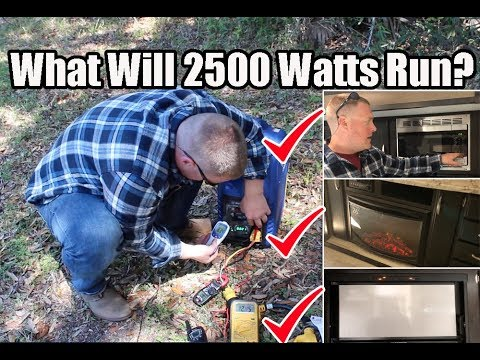 Will This Little Unit Power 15K BTU AC, Hot Water Heater, Microwave, Electric Fireplace or TV?