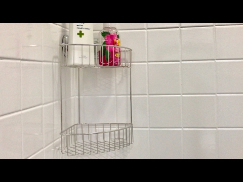MaxHold Suction Cup, Two Tier, Stainless Steel Corner Shower Caddy Review