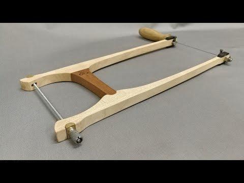 Необычный столярный инструмент. Деревянный столярный лобзик.