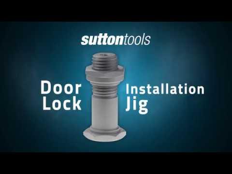 Door lock installation jig