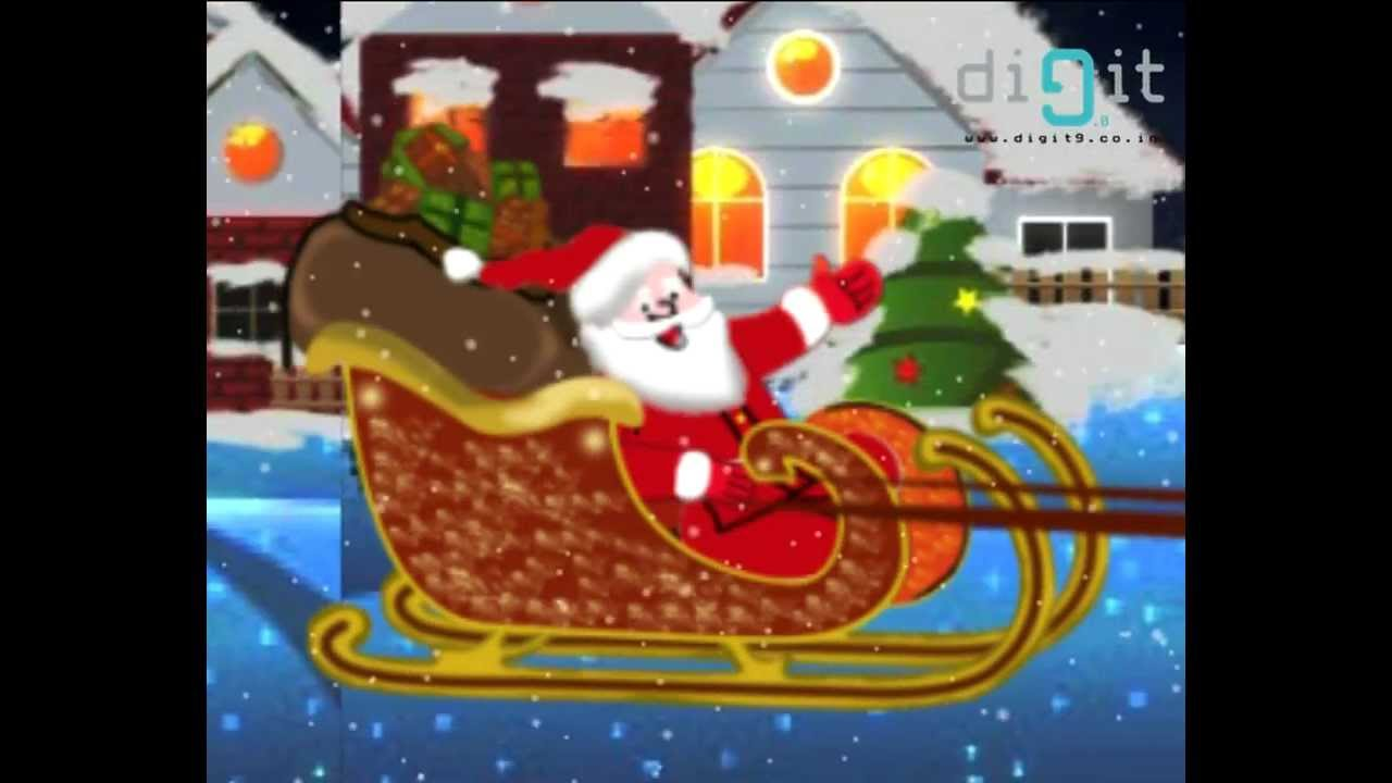 Jingle Bell   Christmas Carol   Animated Nursery Rhymes & Songs With Lyrics For Kids - YouTube
