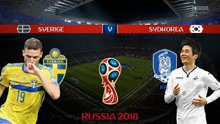 SVERIGE vs SYDKORERA | VM 2018 i Ryssland | Simulerad i FIFA 18