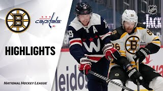 Bruins @ Capitals 4/8/21 | NHL Highlights