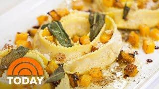Delicious Butternut Squash Rollatini Raviolo And Artichoke Salad Recipes