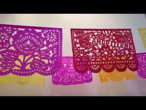 Romantic Papel Picado Banners