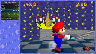Super Mario 64 Star Road 0 Star Speedrun in 8:33 (NEW PB!)