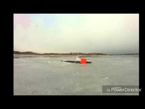 Ice Fishing Pike Belwood Lake Ontario