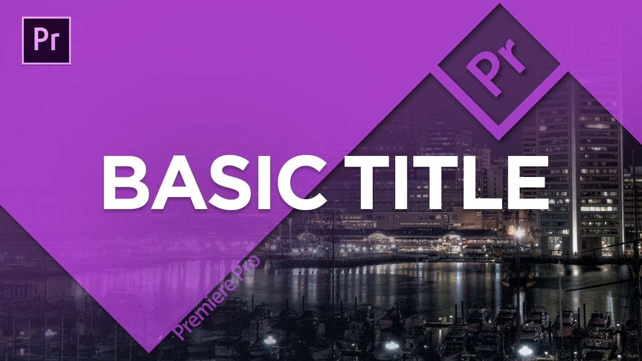how to add title in premiere pro