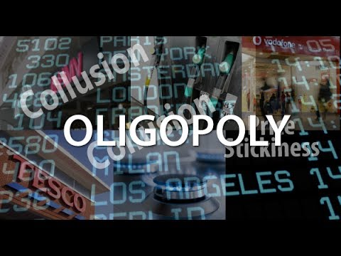 oligopolistic market Econ 910 chapter 8 study play 1 in which market model would the number of firms be the fewest  an oligopolistic market is consistent with: a all firms making.