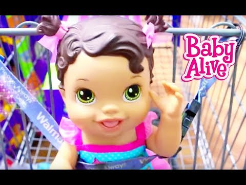 Baby Alive GOES SHOPPING Baby Alive Doll Buys Diapers Baby Alive Toys Clothes NEW BABY Compilation
