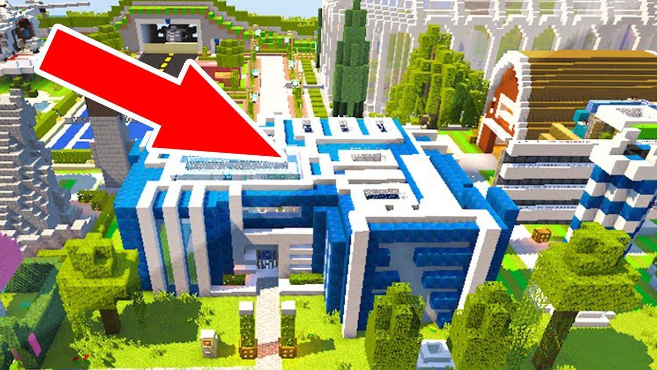 Minecraft redstone haus 100 redstone schaltungen youtube for Minecraft modernes redstone haus download