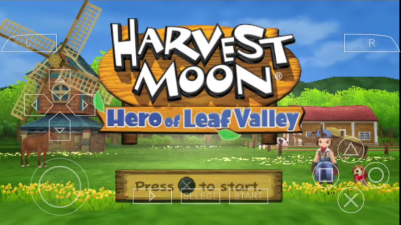 Ppsspp harvest moon hero of leaf valley android youtube.