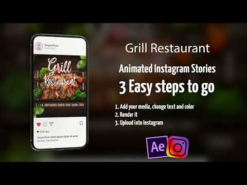 Grill Restaurant – After Effects Template