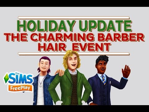 The Sims Freeplay The Charming Barber Hair Event Youtube