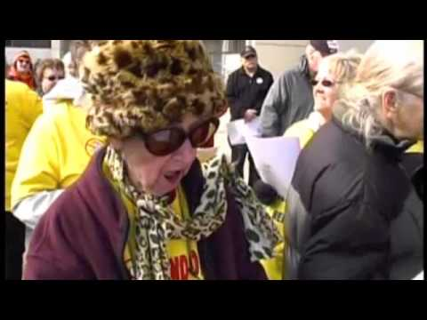 RAGEING GRANNIES WERE THE HIT OF THE SAVE OUR SOCIAL SECURITY MARCH