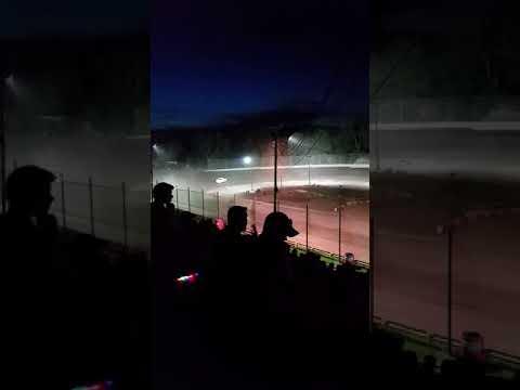 Hilltop Speedway mini trucks feature race.