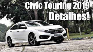 Honda Civic Touring 2019 em detalhes - Falando de Carro