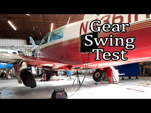 Mooney M20J 201 Gear Swing and Emergency Retraction Test
