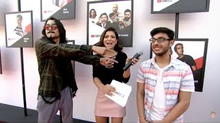 BB & CarryMinati Entry | Youtube Fanfest | BB Says To Kaise Hai Aap Log