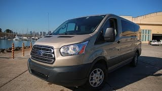 Car Tech - 2015 Ford Transit 150 XLT commercial van has a nice tech layout