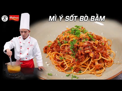 Cách làm Mì Ý Sốt Bò Bằm ngon - Spaghetti - Dạy nấu ăn | Kỹ Năng Vào Bếp