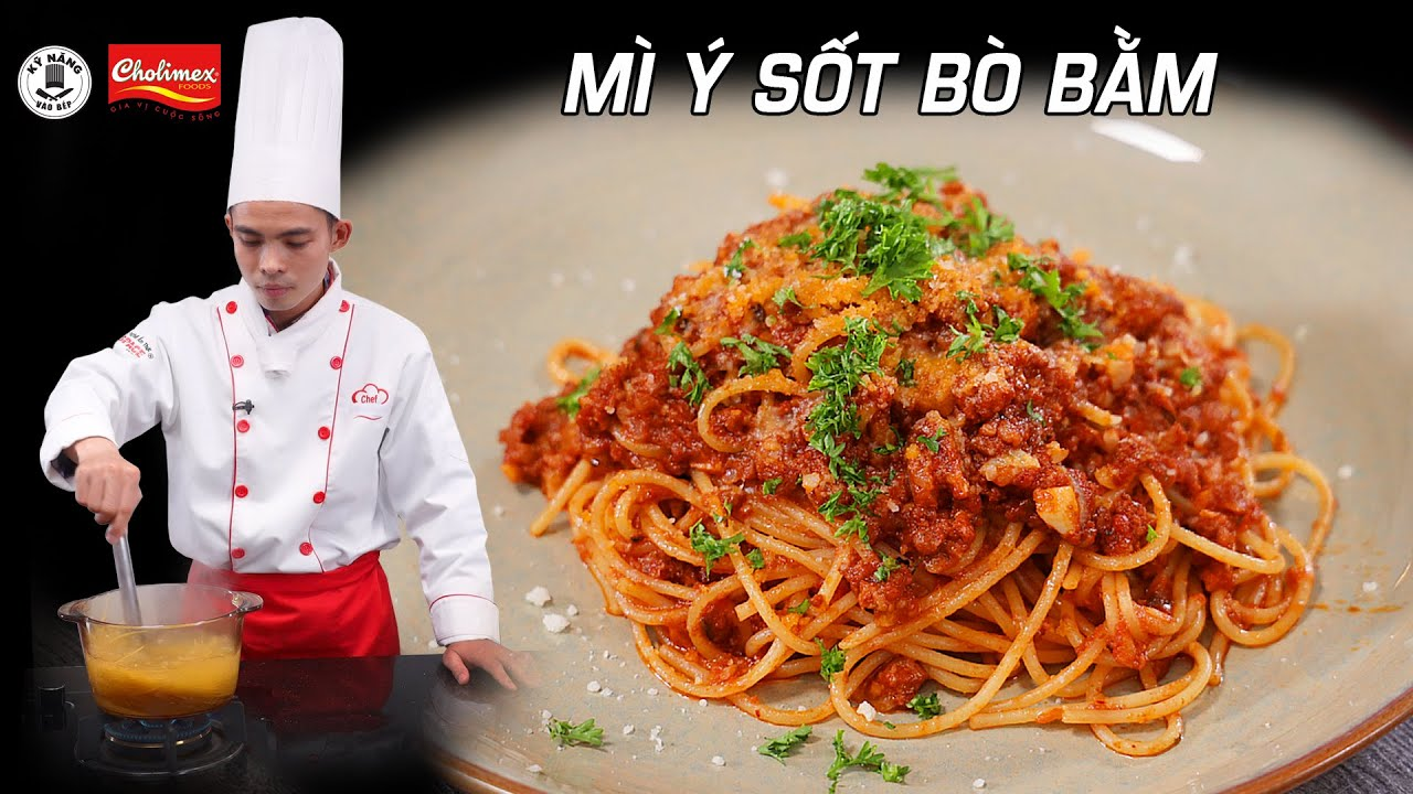 Cách làm Mì Ý Sốt Bò Bằm ngon – Spaghetti – Dạy nấu ăn   Kỹ Năng Vào Bếp