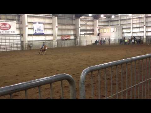 Olivia Sprague OHSETReining at Willamette District Meet 12015