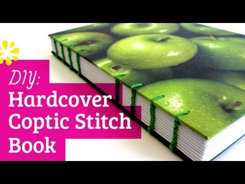 DIY Hardcover Coptic Stitch Bookbinding Tutorial | Sea Lemon